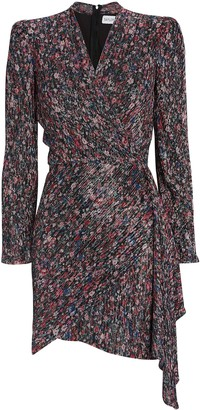 Saylor Bernadette Draped Floral Mini Dress