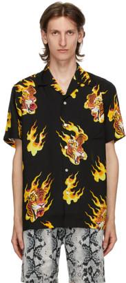 Wacko Maria Black Tim Lehi Hawaiian Short Sleeve Shirt