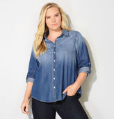 Avenue Sandblasted Embellished Denim Shirt