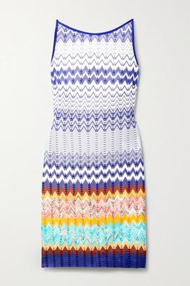 Missoni Striped Crochet-knit Mini Dress - White