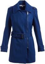 Kenneth Cole Atlantic Blue Belted Wool-Blend Jacket