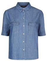 SET Denim Short Sleeve Shirt