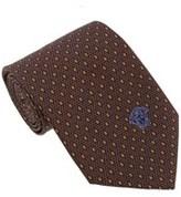 Versace Brown Woven Micro Neat Tie.