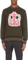 Vivienne Westwood Crown-embroidered cotton-jersey sweatshirt