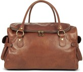 Robe Di Firenze Large Brown Pebbled Italian Leather Carryall Bag