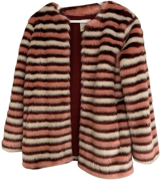 Pinko Pink Faux fur Jacket for Women