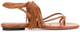 L'Autre Chose Wrap-Tie Tassel Sandals
