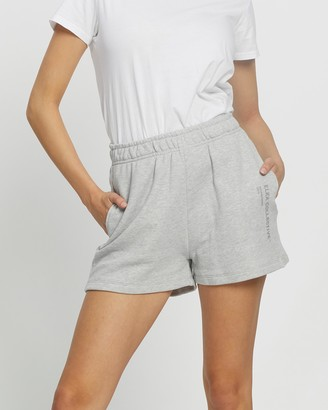 Elka Collective - Women's Grey High-Waisted - Trademark Shorts - Size 8 at The Iconic