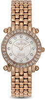 Croton Womens Diamond-Accent Rose Gold-Tone Stainless Steel Bracelet Watch