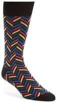Bugatchi Men's Herringbone Socks