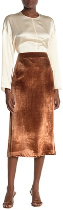 Vince Pann Velvet Midi Skirt