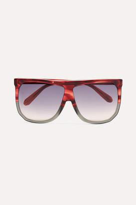 Loewe Filipa Oversized D-frame Two-tone Acetate Sunglasses - Red