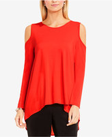 Vince Camuto High-Low Cold-Shoulder Top