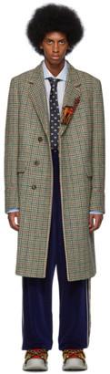 Gucci Multicolor Houndstooth Garden Coat