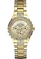 GUESS GUESS? Women's Viva 33mm Gold-Tone Steel Bracelet & Case Quartz Analog Watch W0111L2
