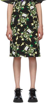 Prada Black Universal Studios Edition Frankenstein Pencil Skirt