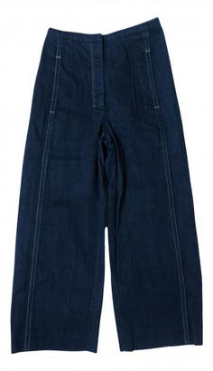 Lemaire Blue Cotton Jeans