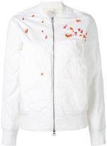 MHI embroidery bomber - women - Cotton/Nylon - 8