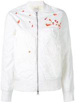 MHI embroidery bomber