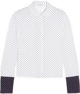 J.W.Anderson Two-tone Polka-dot Crepe Blouse - White