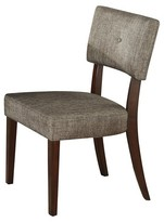 ACME Furniture Drake Side Dining Chair Wood/Espresso/Gray Fabric (Set of 2) - Acme