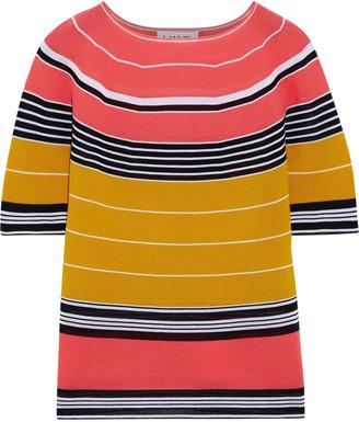 Lanvin Striped Cotton-blend Top