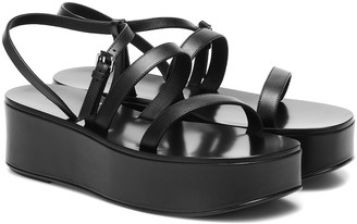 The Row Wedge platform leather sandals
