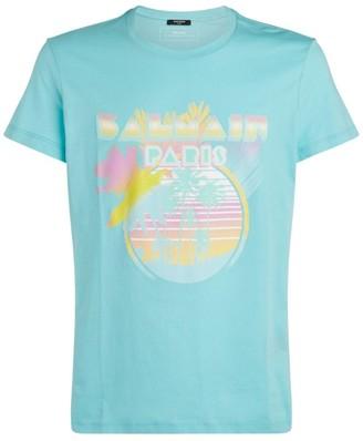 Balmain Palm Tree Print T-Shirt