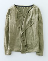 Boden Waterfall Linen Cardigan