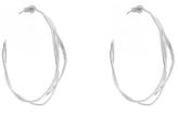 Alex Monroe Silver Fine Twist Hoop Earrings