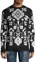 Marcelo Burlon County of Milan Men's Graphic Print Crew Sweater