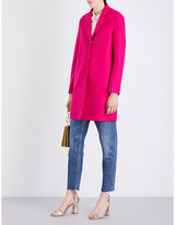 Harris Wharf Ladies Stone Classic Cocoon Wool Coat