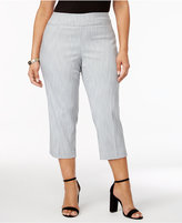 Alfani Plus Size Jacquard Cropped Pants, Created for Macy's