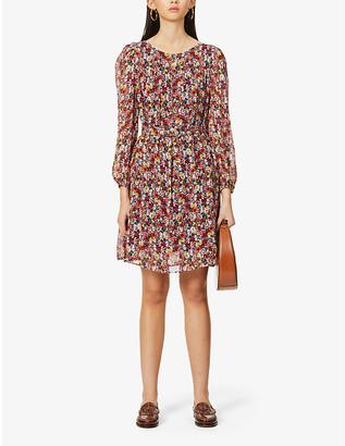 Claudie Pierlot Robby floral-print chiffon mini dress