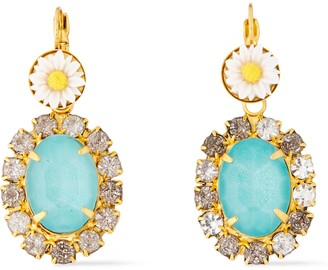 Elizabeth Cole Pagan 24-karat Gold-plated, Stone, Acrylic And Crystal Earrings