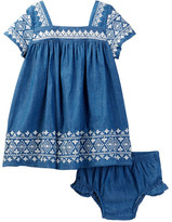 Jessica Simpson Embroidered Dress & Bloomer Set (Baby Girls)