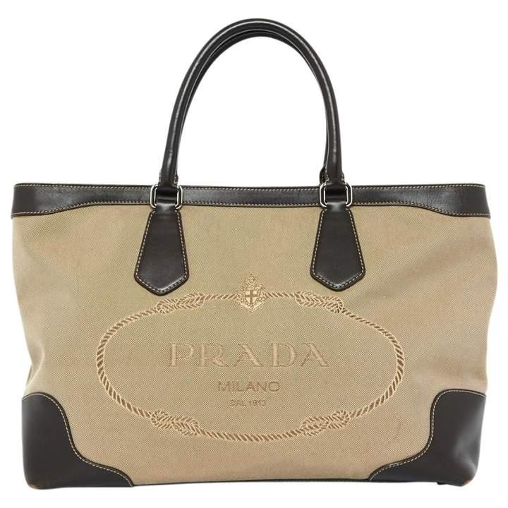 Prada Beige Cloth Handbag