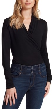 Jessica Simpson Nara Faux-Wrap Thong Bodysuit