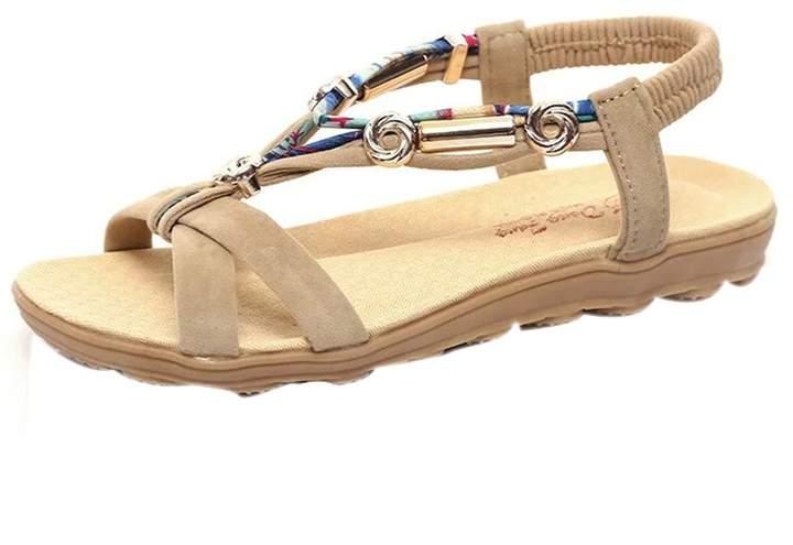 UNIOPLIIL Comfort Sandals Summer Flip Flops Flat Sandals Gladiator Sandalias Mujer