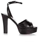 Valentino Fever snakeskin platform sandals