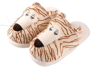 Sumaclife Adults's Plush Cartoon Animal Cozy House Slippers for Indoors (Tiger)