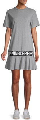 Opening Ceremony Logo-Tape Cotton T-Shirt Dress