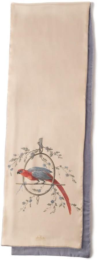 Castlebird Rose Scarf Gold ''Le Perroquet''