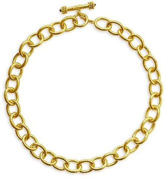 Elizabeth Locke Gold Volterra 19K Yellow Gold Large Oval-Link Chain Necklace