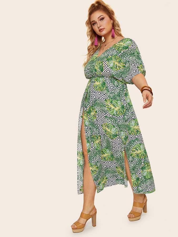 e906cf858511 Plus Size Surplice Maxi Dress - ShopStyle