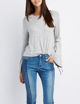 Charlotte Russe Scoop Neck Bell Sleeve Sweater