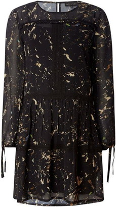 Label Lab Marble print lace insert dress