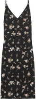 Golden Goose Deluxe Brand Floral-print Silk-crepe Midi Dress - Black