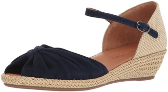 Gentle Souls by Kenneth Cole Women's Lucille Low Wedge Espadrille Sandal