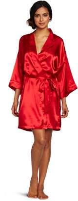 Intimo Women's Poly Charmeuse Robe